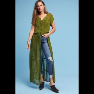 Maeve Green Duster Size XS